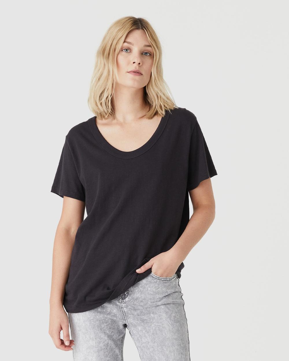 Jac & Mooki - Jess Tee - T-Shirts & Singlets (vintage black) Jess Tee