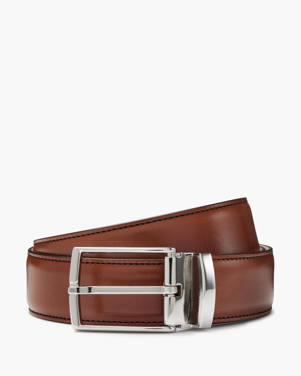 Aquila Bane Leather Belt Belts Tan