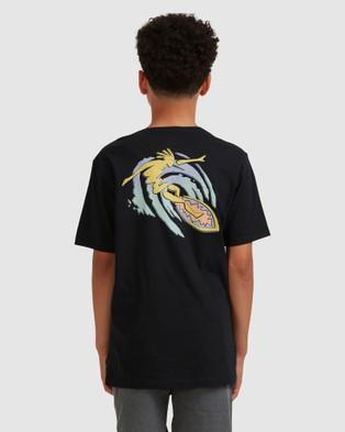 Quiksilver Boys 8 16 Island Pulse T Shirt T-Shirts & Singlets Black 8-16 T-Shirt