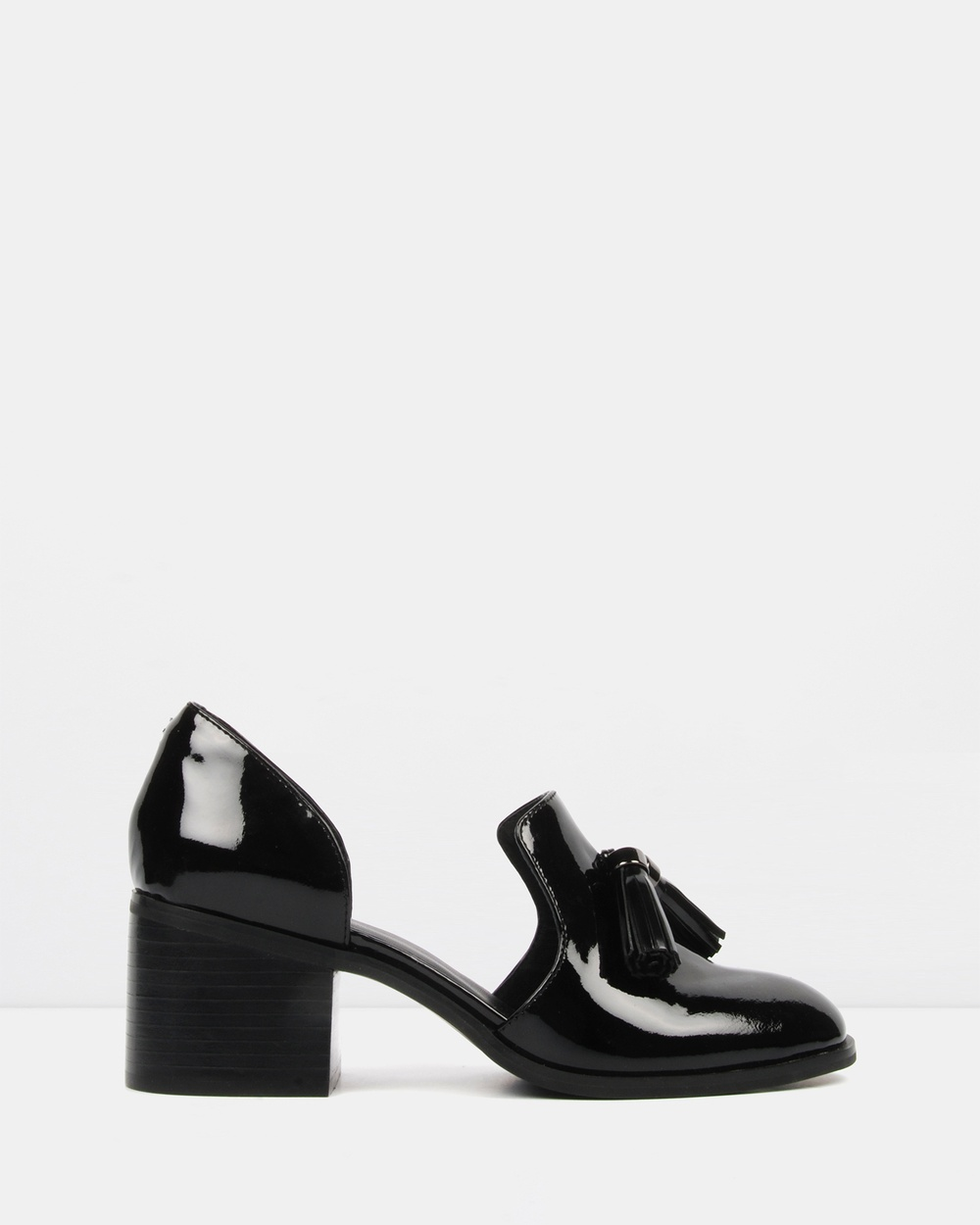Jo Mercer Marie Mid Heel Shoes Mid-low heels Black Patent Marie Mid-Heel Shoes