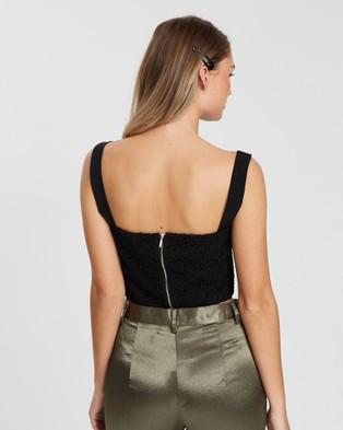 KIANNA Francesca Lace Top - Cropped tops (Black)