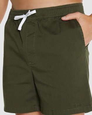 Okanui Castaway Walk Shorts - Chino Shorts (Green)
