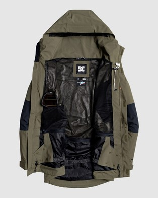 DC Shoes Mens Command Packable Snow Jacket - Coats & Jackets (OLIVE NIGHT)