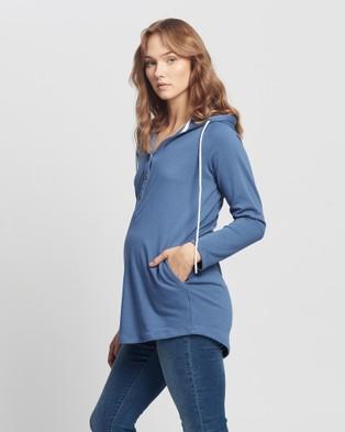 Angel Maternity - & Nursing Hoodie Hoodies (Blue)