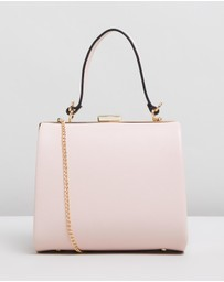 Olga Berg - Lara Framed Top Handle Bag