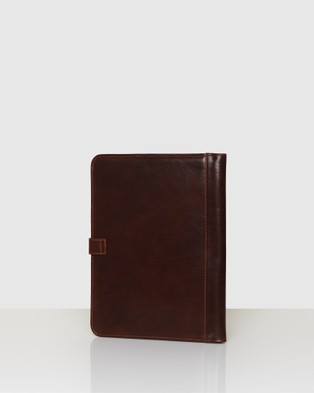 Republic of Florence Recto Brown A4 Leather Compendium - All Stationery (Brown)