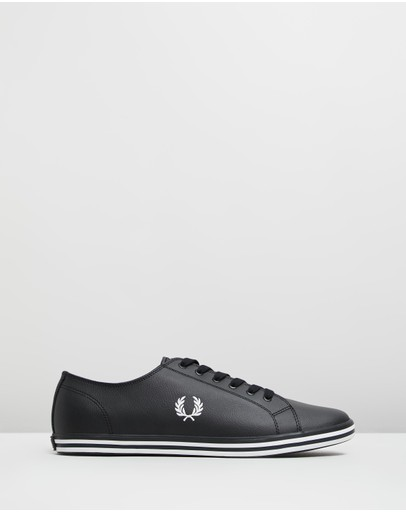 Fred Perry Kingston Leather Sneakers Black & Porcelain