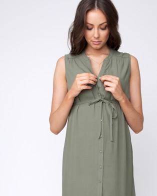 Ripe Maternity - April Dress - Dresses (Khaki) April Dress