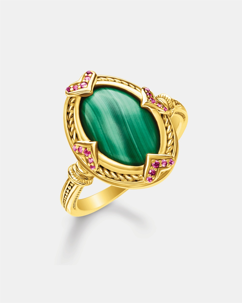 THOMAS SABO Ring Green Stone Jewellery Gold