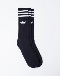 adidas Originals - Solid Crew Socks 3 Pack