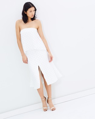 C/MEO COLLECTIVE – Faded Light Dress – Dresses (Ivory)