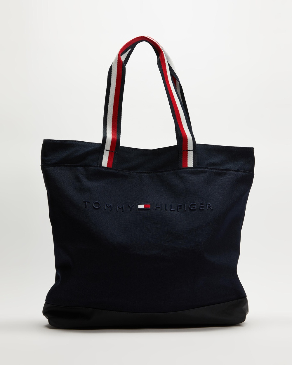 Tommy Hilfiger Canvas Tote With Strap Bags Desert Sky
