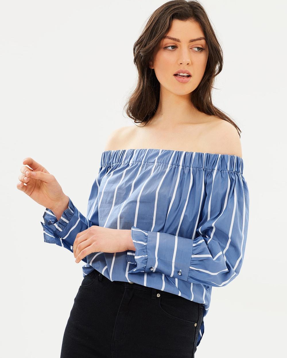M.N.G Show Shirt Tops Azul Show Shirt