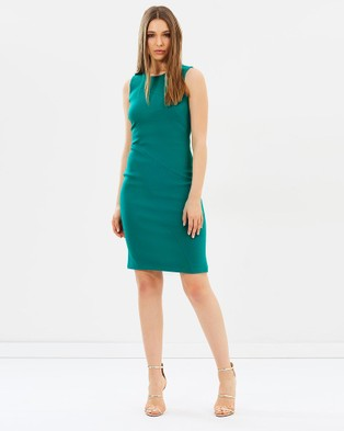 Karen Millen – Seam Detail Pencil Dress – Bodycon Dresses (Teal)