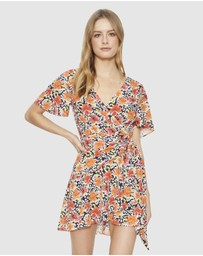 Cooper St - Let Go Wrap Mini Dress