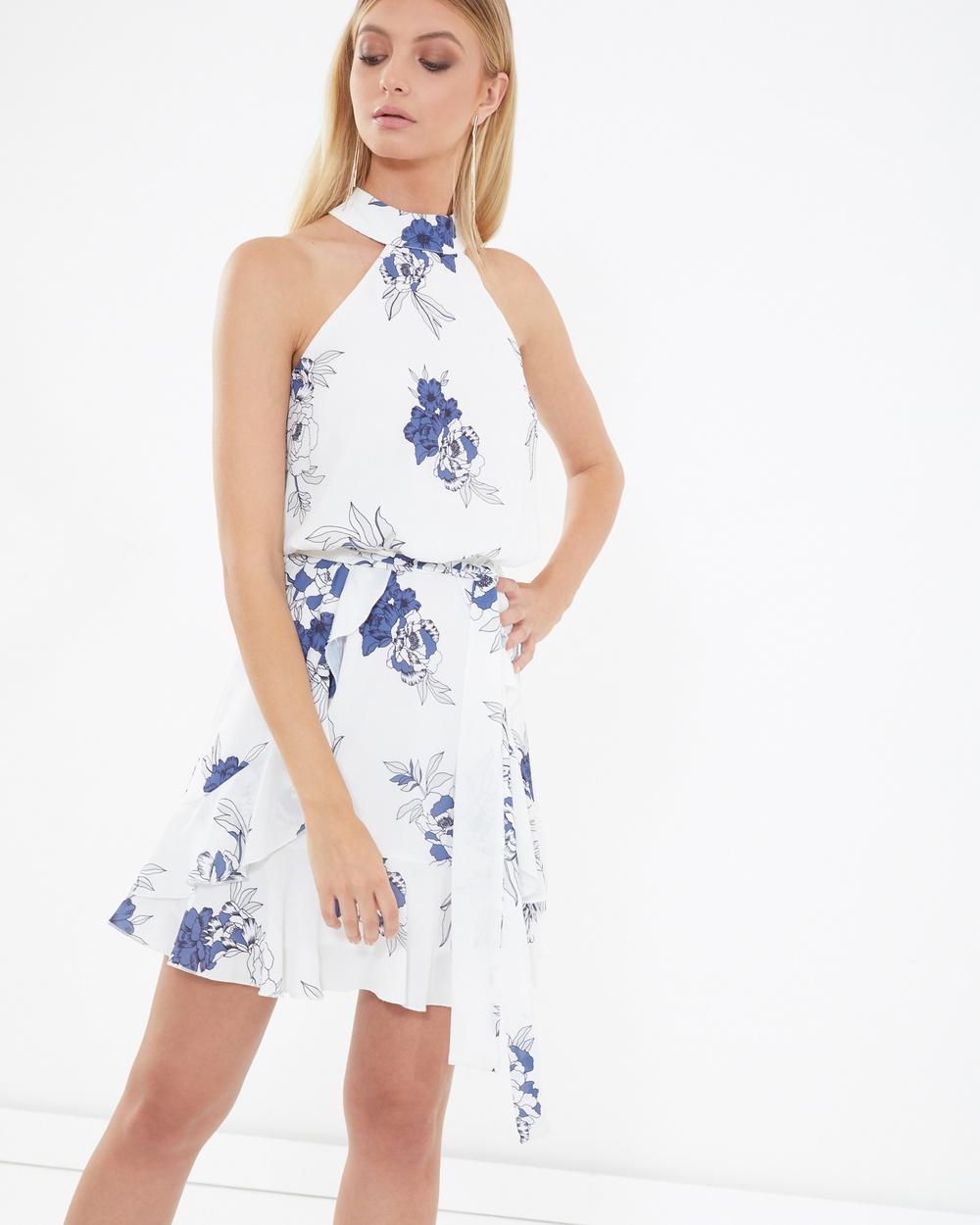 Tussah Izzy Ruffle Dress Printed Dresses Multi Izzy Ruffle Dress