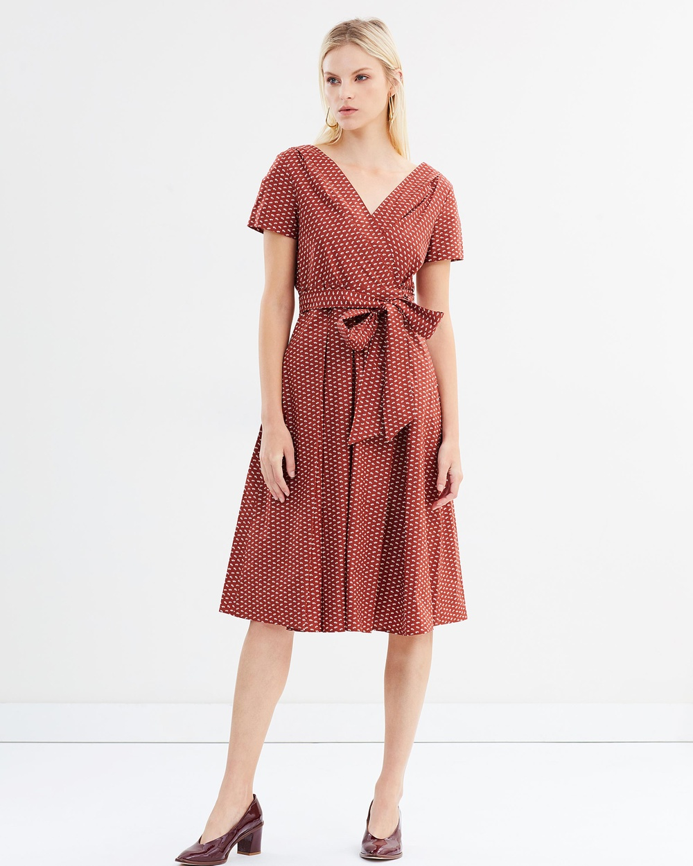 Weekend Max Mara Amaca Dress Printed Dresses Brown Amaca Dress