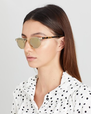 Oliver Peoples Gregory Peck Sun - Sunglasses (Honey & Gold Mirror MG)