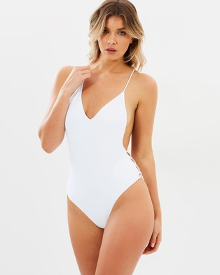 Bond-Eye Swimwear – Up And Away One Piece – One-Piece / Swimsuit (Cloud)