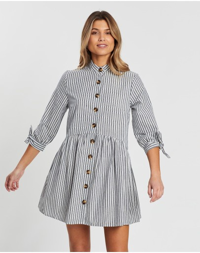 Atmos&here Melia Shirt Dress Stripe