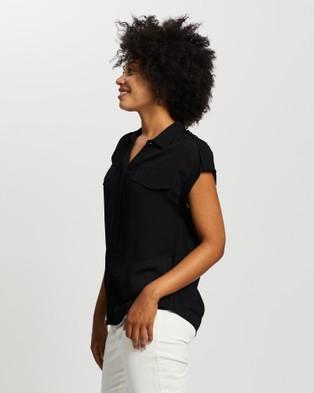 Marcs Utility Extended Sleeve Tee - Tops (BLACK)