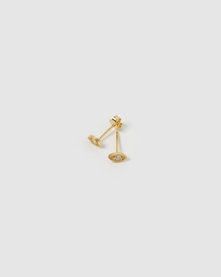 Arms Of Eve Lila Gold Studs - Jewellery (Gold)