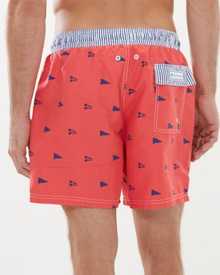 Malkin & Toad Peninsula Pennant Men's Swim Shorts - All gift sets (Red)