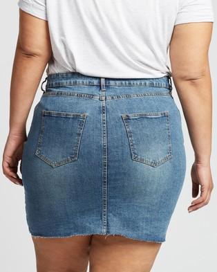 Cotton On Curve Denim Skirt - Denim skirts (Berkley Blue)