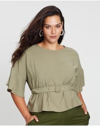 Atmos&Here Curvy - Madison Belted Blouse