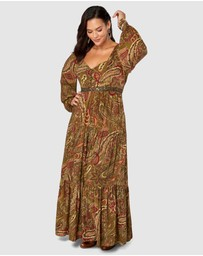 The Poetic Gypsy - Love Story Print Maxi Dress