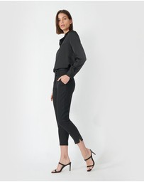 Forcast - Josie Cropped Notch Pants