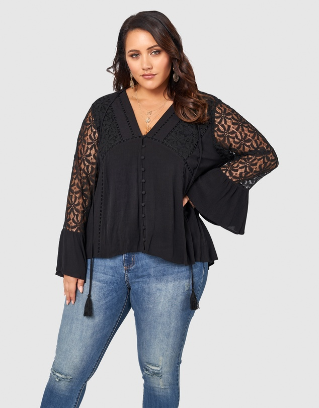 The Poetic Gypsy - Universal Navigator Lace Blouse