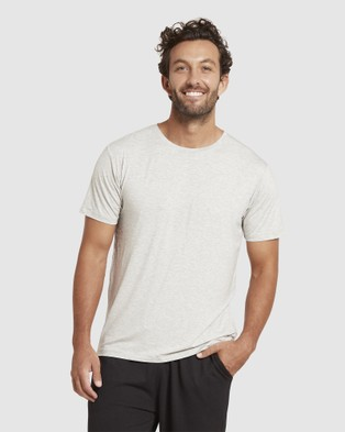 Boody Organic Bamboo Eco Wear 4 Pack Crew Neck T Shirt - Short Sleeve T-Shirts (Mixed Colours)