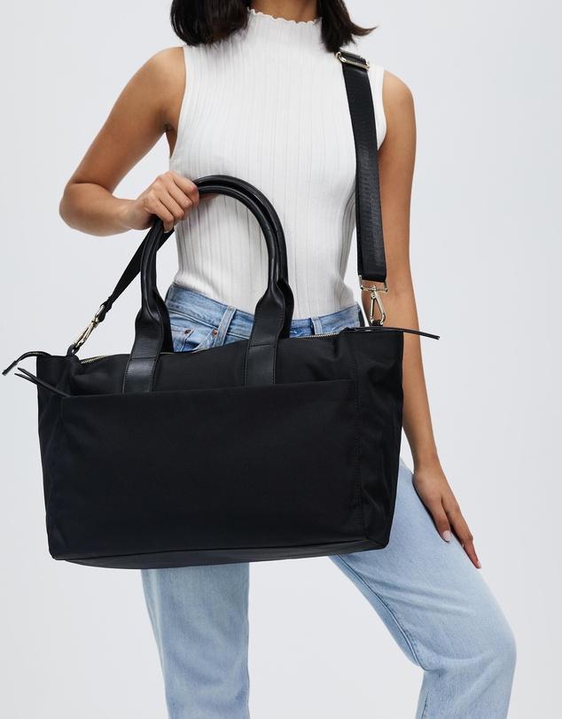 Women Nylon & Leather Baby Bag