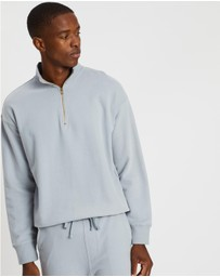 AERE - Organic Quarter Zip Sweater