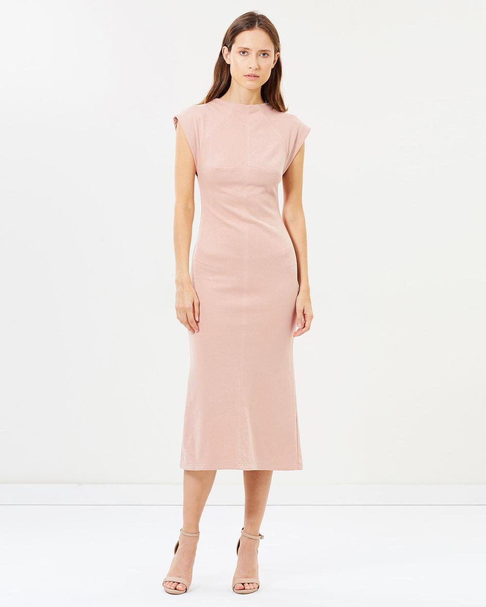 Akin by Ginger & Smart Dusty Pink Devotion Track Dress
