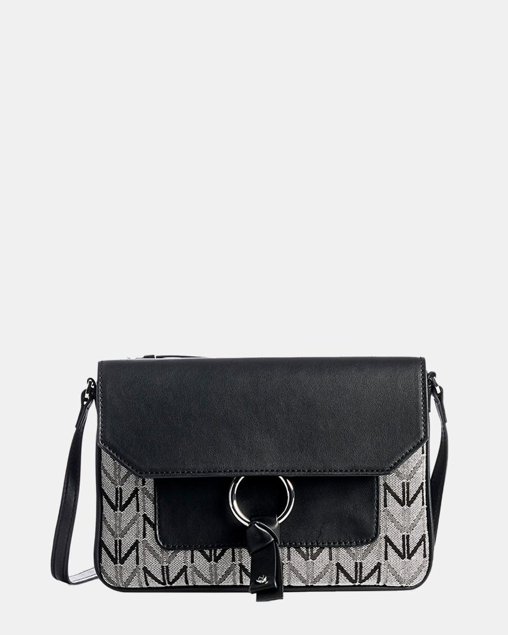 Naturalizer Cinty 2 Shoulder Bag Bags Black White Australia