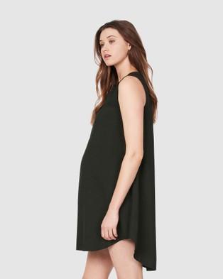 Soon Maternity Camille Drape Dress - Dresses (Green)