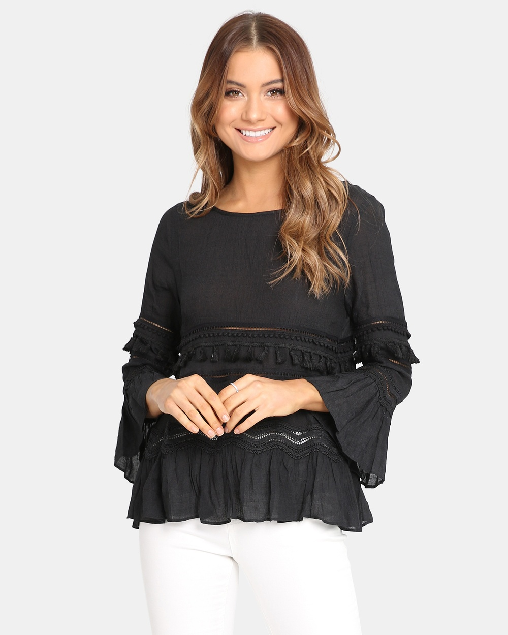 Madison Square Chantelle Top Tops Black Chantelle Top