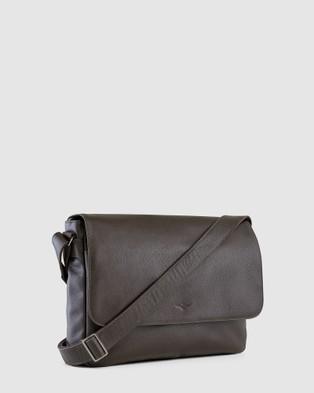 Aquila Montoro Messenger Bag - Travel and Luggage (Brown)