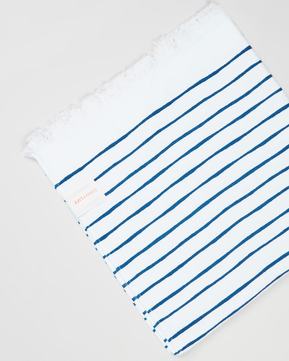 Sunnylife Turkish Towel Nouveau Bleu Indigo