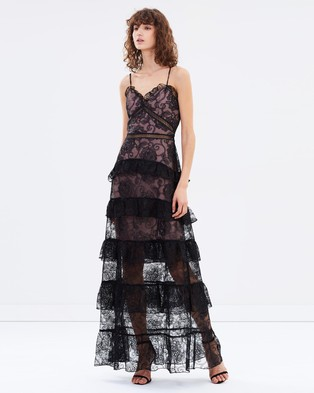 Nicholas – Rosie Lace Tiered Gown – Dresses (Black)