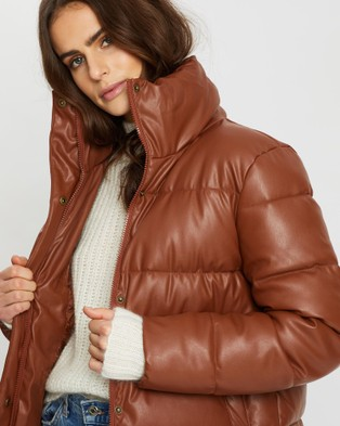 Unreal Fur Major Tom Puffer Jacket - Coats & Jackets (Tan)