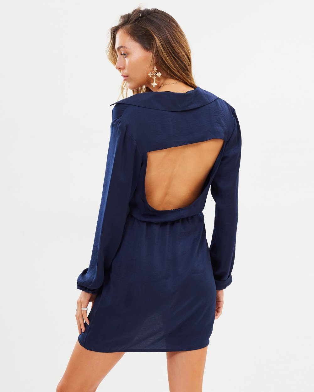 218b97c27fc3 Open Back Shirt Dress by Missguided Online