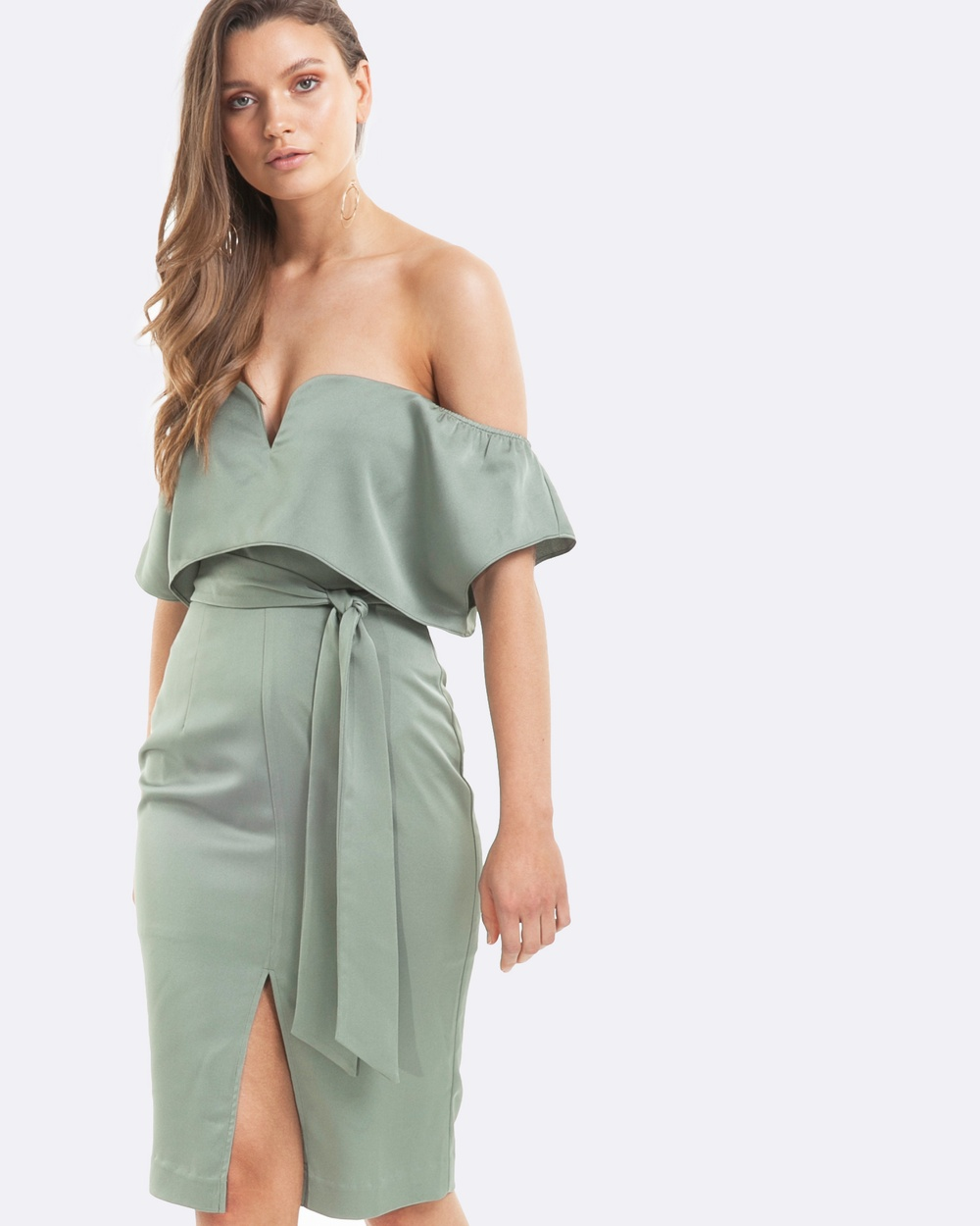 Amelius Glamour Dress Dresses Green Glamour Dress