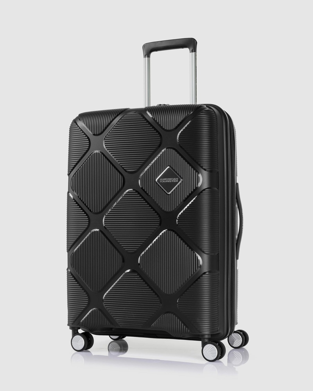 American Tourister Instagon Spinner 69 25 Travel and Luggage Jet Black 69-25