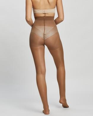 The Legwear Company 2 Pack 40 Denier Eco Tights - Full Length (Mocha)