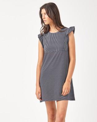 Huffer – SHORES RIGHT ON DRESS – Dresses (Navy / White)