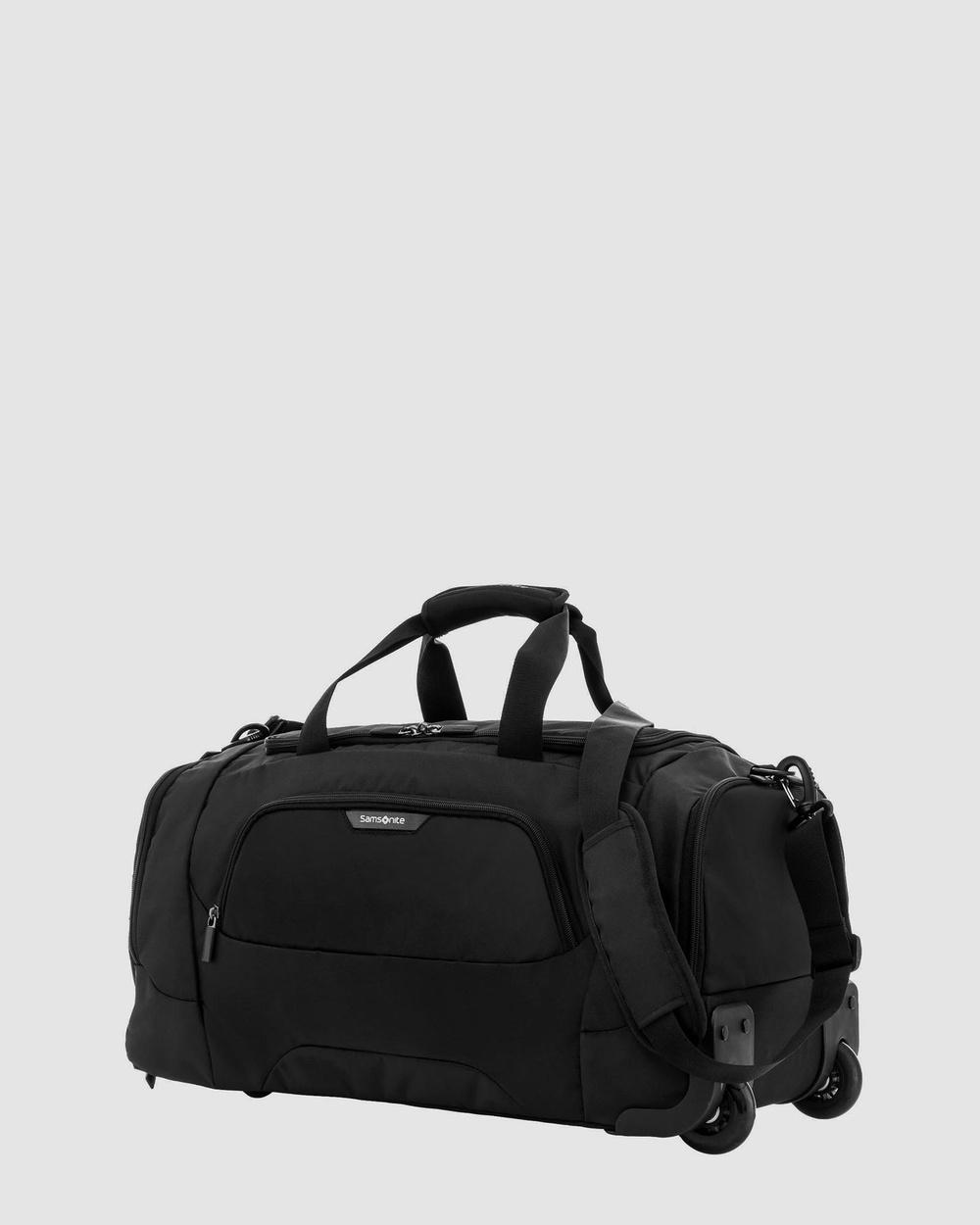 Samsonite Business Albi 55cm On Wheel Duffle Bag Bags Black & Grey On-Wheel