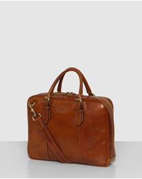 Republic of Florence - The Madrid Tan Briefcase